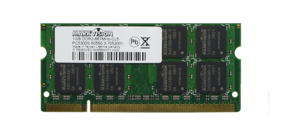 Memória Notebook Markvision 1gb DDR2 667MHz CL5 Pc5300