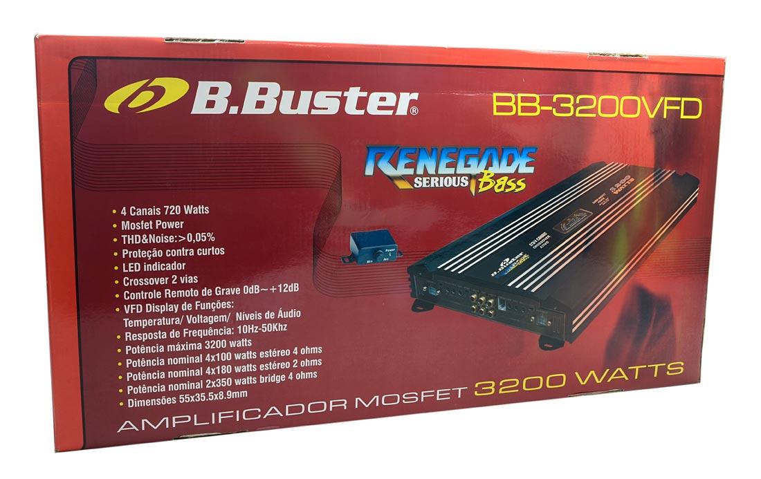 Módulo / Amplificador B.Buster BB-3200VFD Renegade 3200 watts