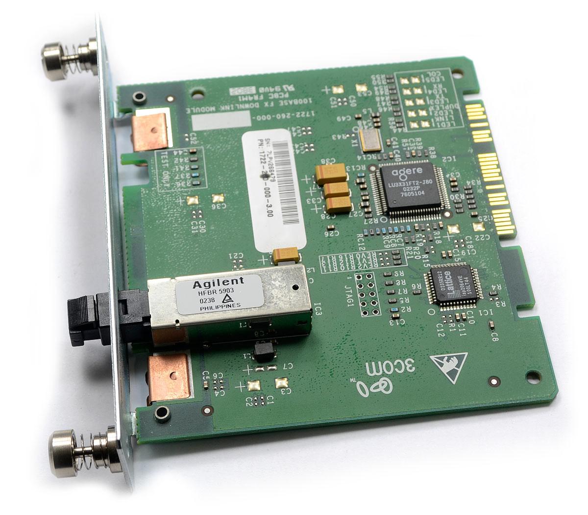 Módulo Switch 3Com 4400 com 01 porta 100BaseFX (MTRJ) - 3C17222 - Outbox