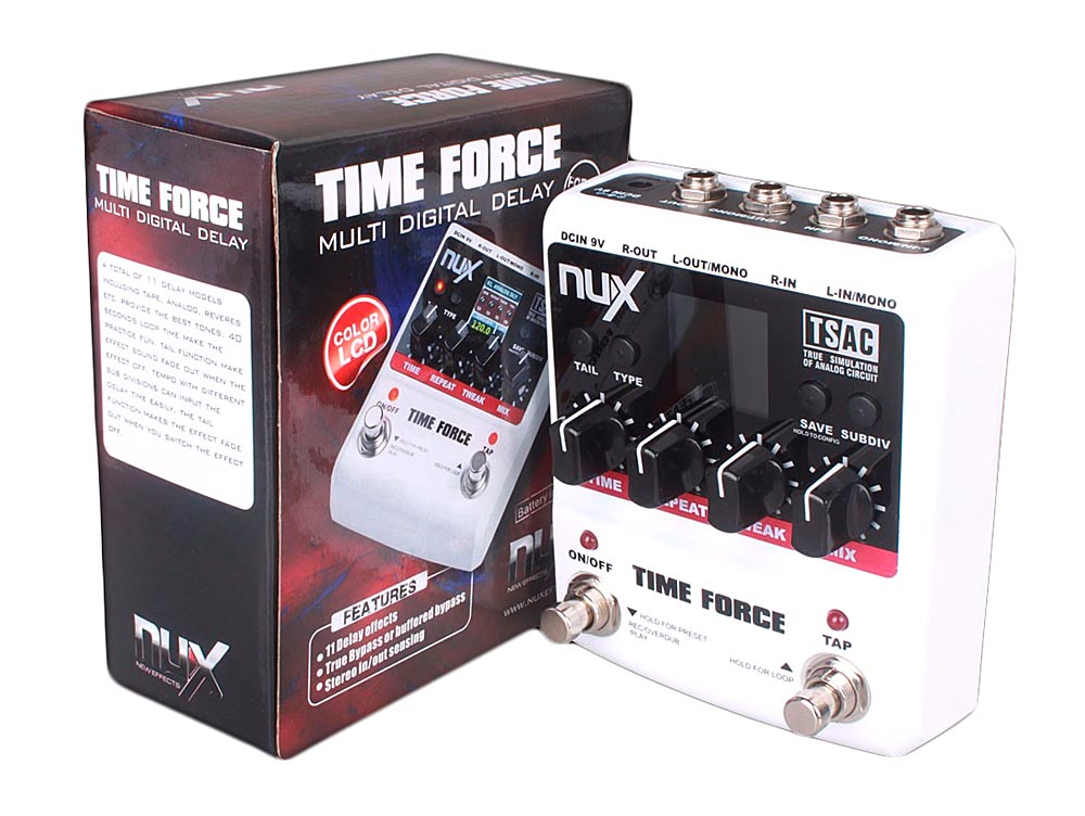 Pedal de Delay Nux Time Force - Multi Digital Delay - 11 tipos de Delay