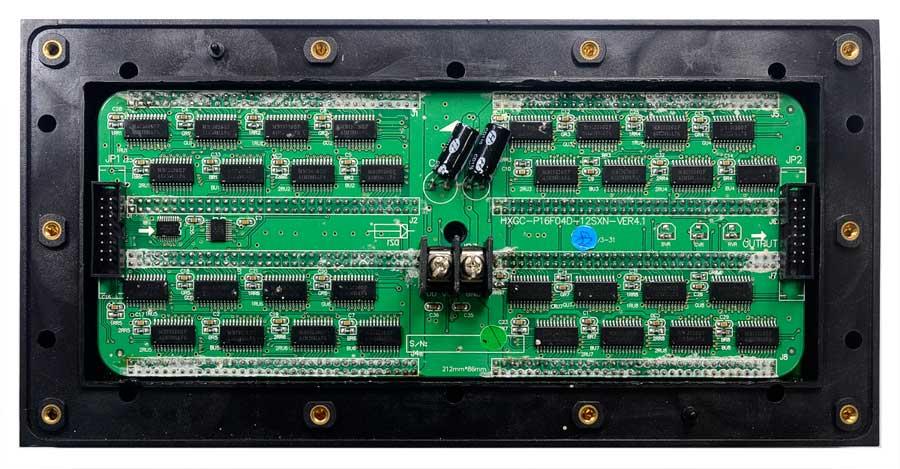Placa de LED 512 Leds HXGC-P16F04D-12SXN-VER4.1 Tela