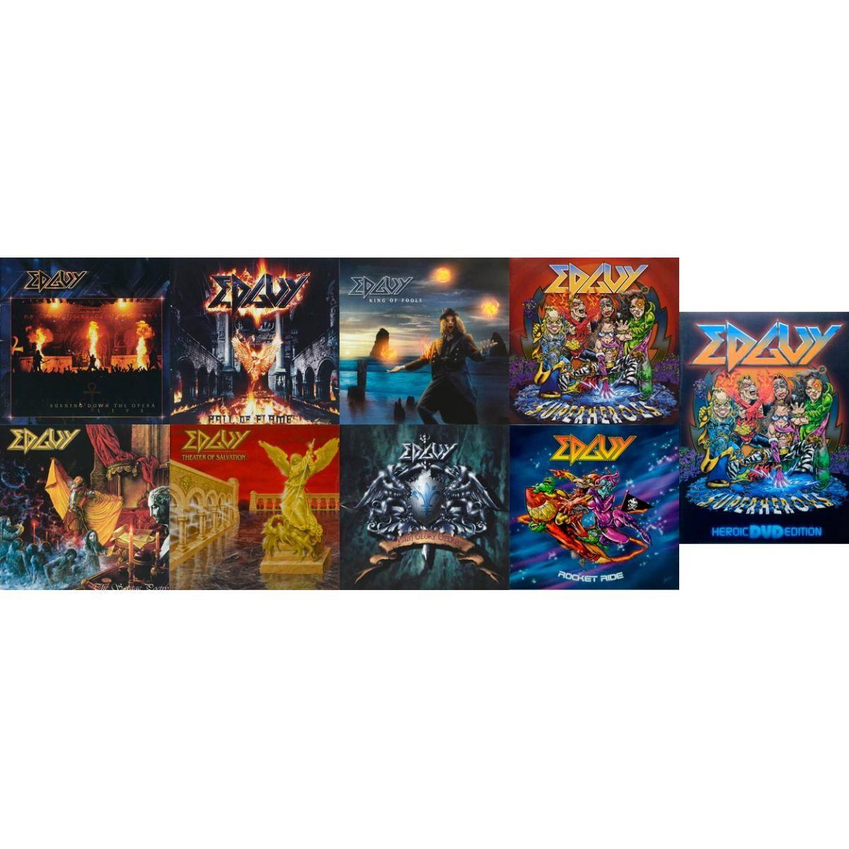 Seleção EDGUY 8 CDs e 1 DVD