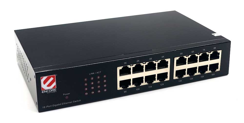 Switch Encore 16 Portas Gigabit 10/100/1000 ENHGS-1600X2 Outbox