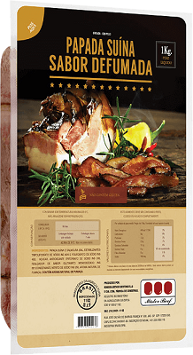 BACON FATIADO MISTER BEEF 1 Kg 1 Pcte. (COD. 636)  - Chef Distribuidora Bambini