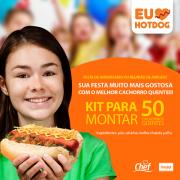 Kit EU AMO HOT DOG Festa para Fazer 50 Cachorros Quentes