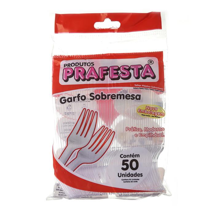 GARFO PLASTICO TRANSPARENTE P/ SOBREMESA 50 Unidades (COD. 13897)  - Chef Distribuidora