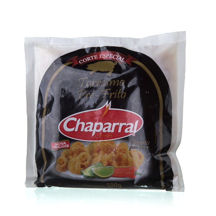 TORRESMO PRÉ FRITO CHAPARRAL 500g 1 Pcte (COD. 19627)  - Chef Distribuidora