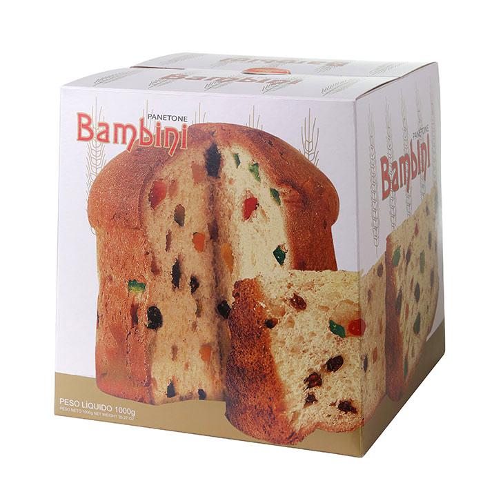 PANETONE BAMBINI EMBALAGEM LUXO 1Kg 1 Unidade (COD. 328)  - Chef Distribuidora