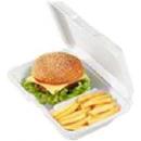 ISOPOR ESTOJO P/ PORÇÃO COM DIVISÓRIA (M121) 23,5X16 cm cx c/ 200 Unidades (COD. 19897)  - Chef Distribuidora