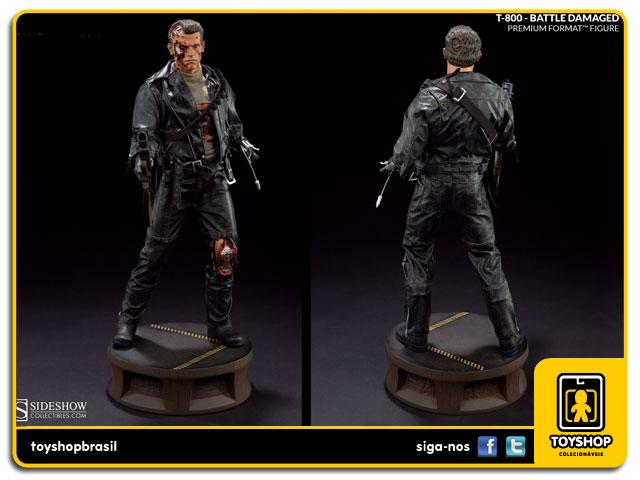Terminator 2 Judgment Day: Estátua T-800 Battle Damaged Premium Format - Sideshow