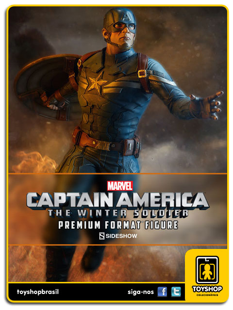 Captain America The Winter Soldier:  Captain America Premium Format - Sideshow Collectibles