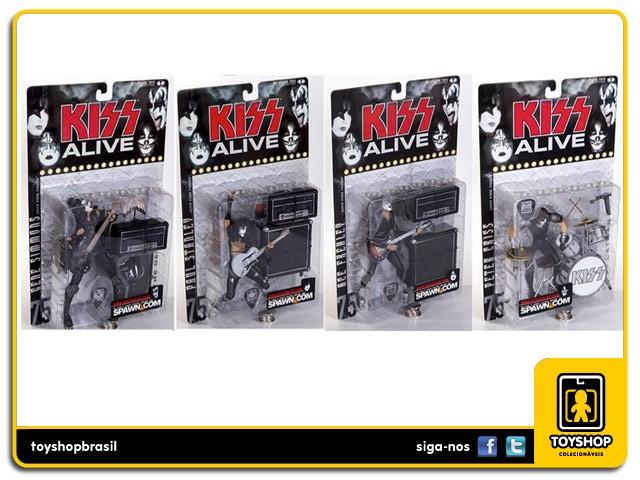 Kiss Alive set completo 4 figuras  - Mcfarlane