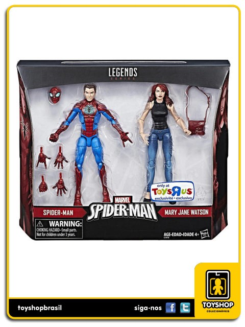 Marvel Legends Spider-Man & Mary Jane Watson Exclusivo Pack 2 Figuras  Hasbro