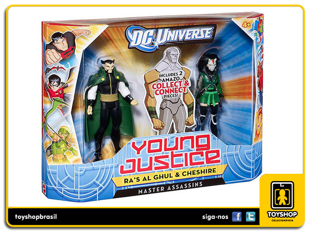 Dc Universe Young Justice: Ra´s Al Ghul & Cheshire - Mattel