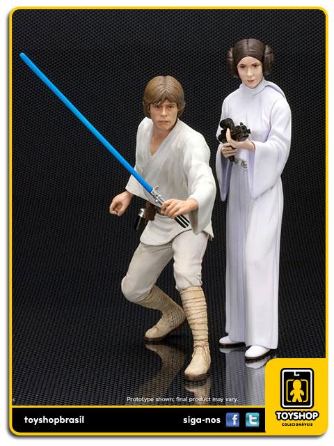 Star Wars: Luke Skywalker & Princess Leia Artfx - Kotobukiya