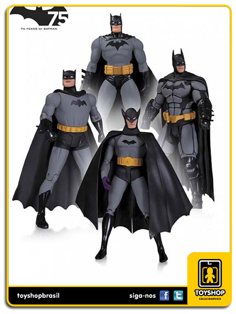 Batman 75th Anniversary: Box Set 4 Figuras - DC Collectibles