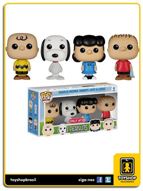 Peanuts: Box Set 4 Figuras Pop - Funko