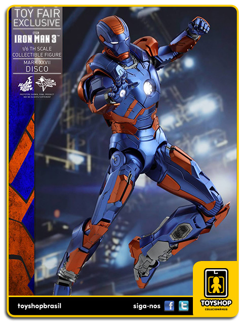 Iron Man 3: Iron Man Mark XXVII Disco Toy Fair - Hot Toys