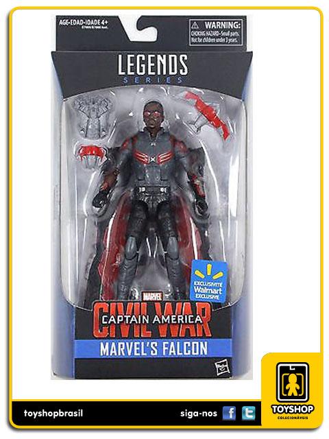 Marvel Infinite Captain America Civil War: Falcon Exclusivo - Hasbro