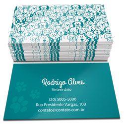 1000 Cartões de Visita Verniz total Frente e Verso  - Atual Brindes
