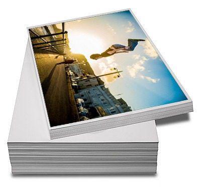 100 Folhas De Papel Fotográfico Super Brilho A4  - Atual Brindes