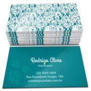 1000 Cartões de Visita Verniz total Frente e Verso