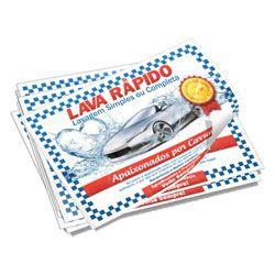 500 Tapetes de Papel com desenho para Lava Rápido  - Atual Brindes