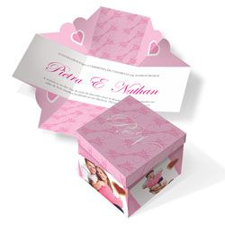Convite de Casamento Especial 06  - Atual Brindes