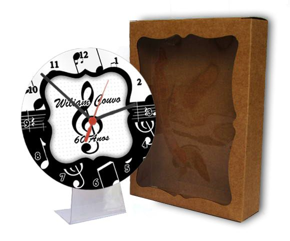 kit 10 Relógios de Mesa com Visor Protetor Personalizado