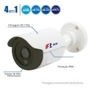 Câmera Bullet Multi HD 720p, FBR Lente 2,8mm, Focusbras 128P, 4 em 1 HDTVI, HDCVI, AHD, Analógico FS-PBF1M