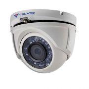 Câmera Dome Infravermelho HDTVI Tecvoz TDM-1028 HD 720p 2,8mm