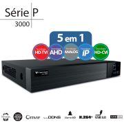 DVR Stand Alone  Tecvoz TW P3008 08 Ch 1080P  Flex 4 em 1 - HD-TVI / HDCVI / AHD / CVBS / IP
