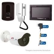 Kit Porteiro Intelbras IPR8010 com 01 Câmeras Infra Bullet HD 720p e Tela Monitor 7