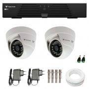 Kit CFTV 2 Câmeras Infra 720p Tecvoz Flex QDM 128P - DVR Tecvoz HDTVI + Acessórios