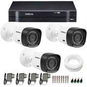 Kit CFTV 3 Câmeras Infra 720p Intelbras VHD 1120B G3 + DVR Intelbras Multi HD + Acessórios