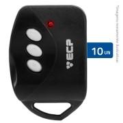 Kit com 10 Controles Remoto ECP Key para Alarme e Portão Eletrônico