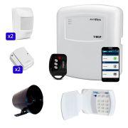 Kit de Alarme Simples Duplo com Teclado Conect Senha RF Sem Fio ECP