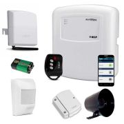 Kit de Alarme ECP 02 Sensores Sem Fio Acesso pelo Celular via Discadora GSM Connect Cell