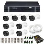 Kit de Câmeras de Segurança - DVR Intelbras 8 Ch G2 Tríbrido HDCVI + 8 Câmeras Infra VHD 1010B HD 720p + Acessórios