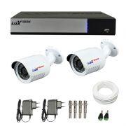 Kit de Câmeras de Segurança - DVR Stand Alone Híbrido AHD M Luxvision 4 Canais + 2 Câmeras Infra Luxvision HD 720p + Acessórios