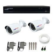Kit de Câmeras de Segurança - DVR Stand Alone Híbrido AHD Luxvision ECD 4 Canais + 2 Câmeras Infra Luxvision HD 720p + Acessórios