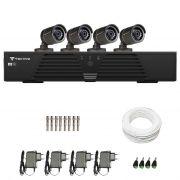 Kit de Câmeras de Segurança - DVR Tecvoz 4 Ch Tríbrido HDTVI + 4 Câmeras Infra ACB 836 800 Linhas + Acessórios