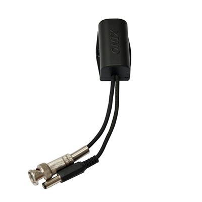 Balun Onix Compatível com HDCVI, HDTVI, AHD e Analógico - Conversor de par trançado passivo, 300m, Utiliza Cabo Lan