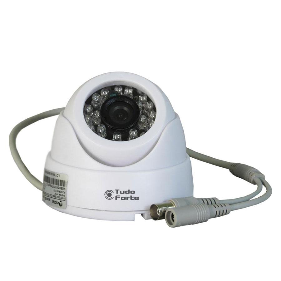 Câmera Dome Infravermelho 1200 Linhas Tudo Forte 3,6mm Interna