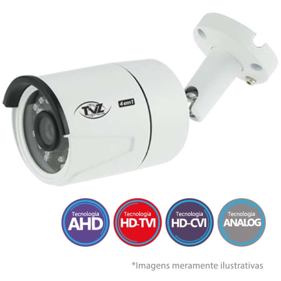 Câmera Bullet Infravermelho Flex 4 em 1 TVZ Tecvoz 4BL2  Full HD 1080p 2.0M - HDTVI, HDCVI, AHD, CVBS(Analógico),