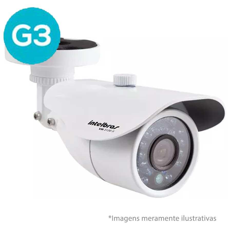 Câmera Bullet Infravermelho Híbrida Intelbras VM 3120 IR G3 - AHD 720p e Analógica 1000 Linhas