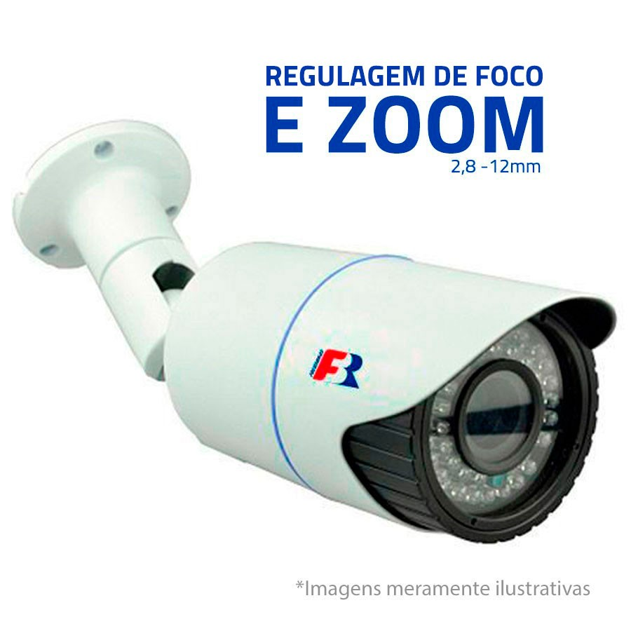 Câmera Varifocal AHD 720p Infravermelho para até 40 Mts FBR 2.8mm À 12mm, VF3140 FocusBras