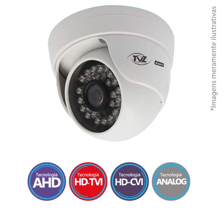 Câmera Dome Infravermelho Flex 4 em 1 TVZ Tecvoz 4DMP HD 720p 1.0M - HDTVI, HDCVI, AHD, CVBS(Analógico)