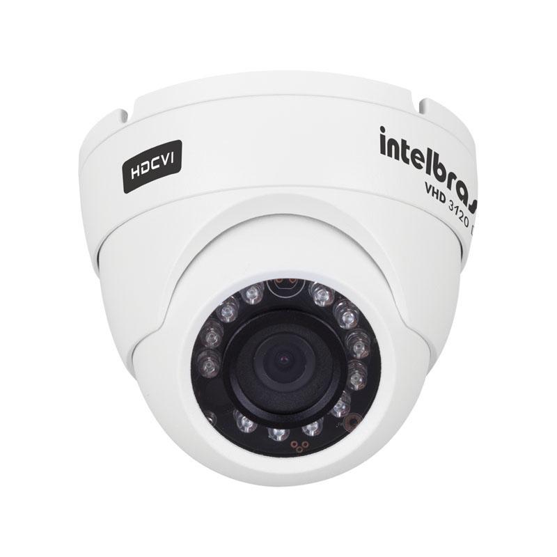 Câmera Dome Infravermelho HDCVI Intelbras VHD 3120D G2 HD 720p 2,8mm