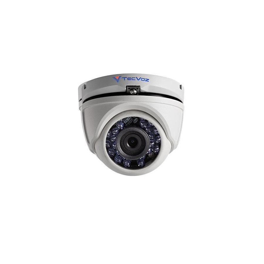 Câmera Dome Infravermelho HDTVI Tecvoz T1-TV3285/CW HD 720p 2,8mm